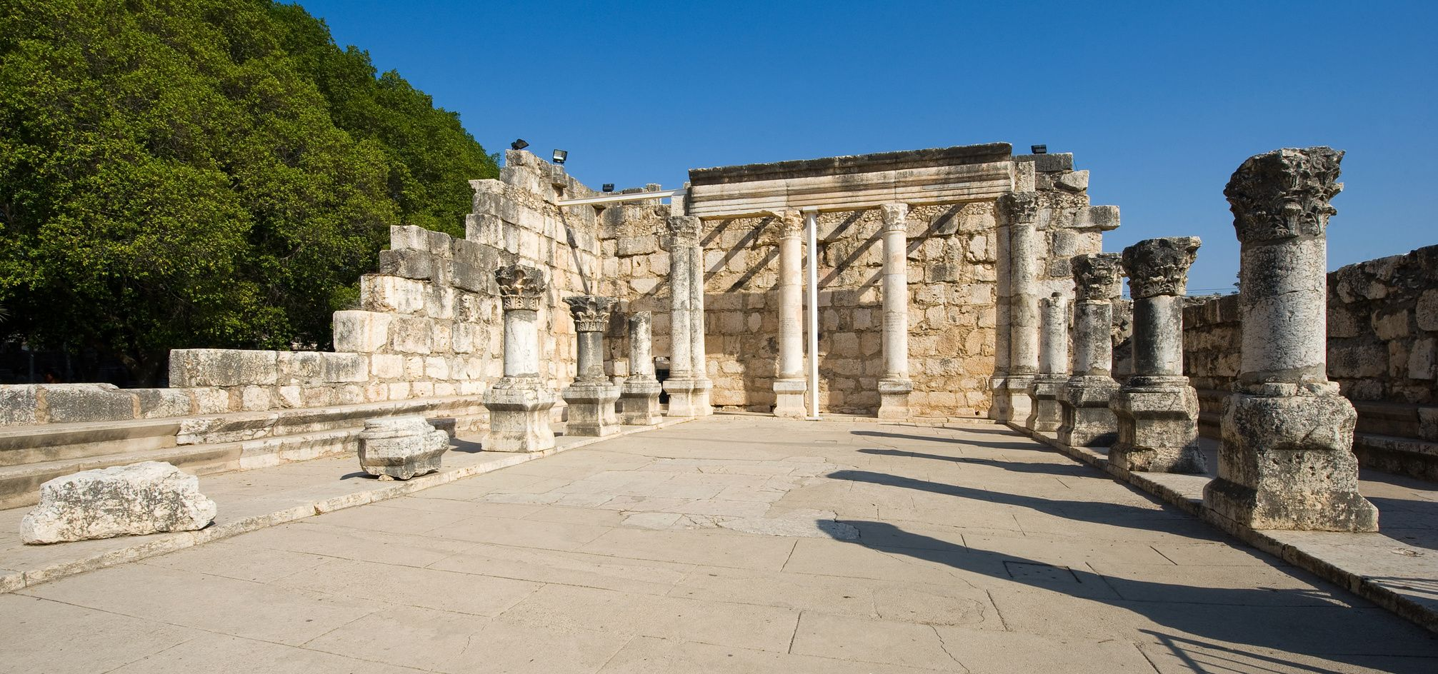 Pozůstatky synagógy v Kafarnaum