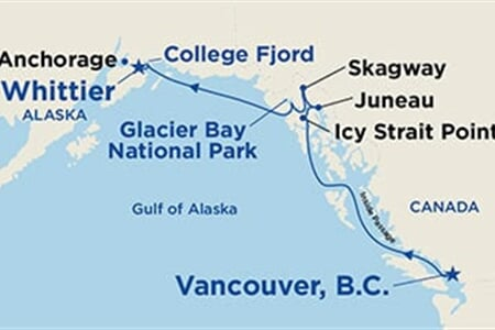 Voyage of the Glaciers (Northbound with Icy Strait Point)