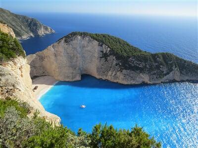Nádherné útesy ostrova Korfu
